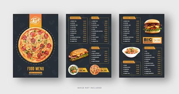 Modèle de menu et de flyer de restaurant