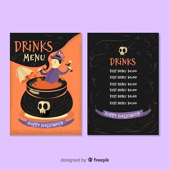 Modèle de menu halloween créatif