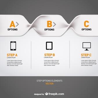 Modèle de menu infographie libre