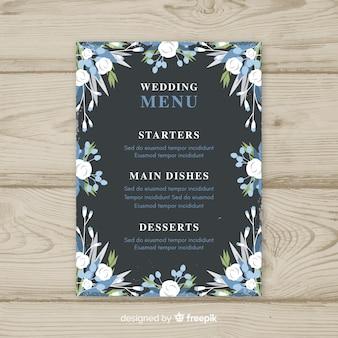 Modèle de menu de mariage