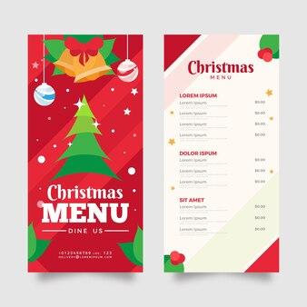 Modèle de menu de noël festif