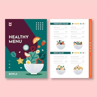 Modèle de menu de nourriture saine
