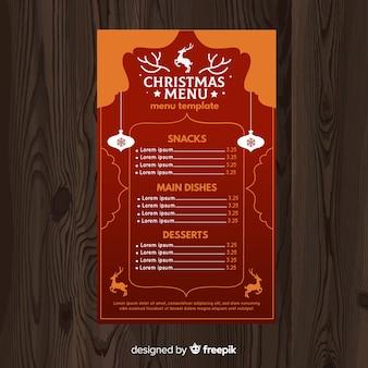 Modèle de menu oriental de noël