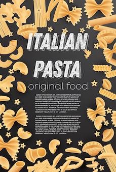 Modèle de menu de pâtes italiennes