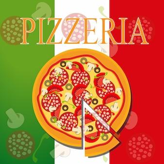 Modèle de menu de pizza, illustration vectorielle