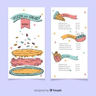 Modèle de menu pizzeria