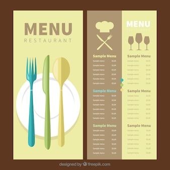 Modèle de menu plat