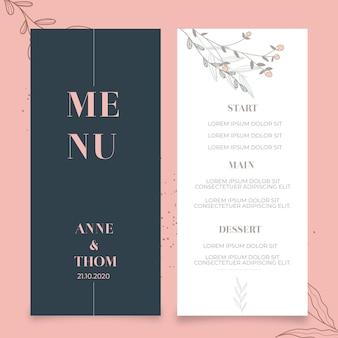 Modèle de menu pour mariage