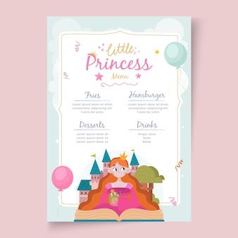 Modèle de menu de restaurant d'anniversaire pour enfants