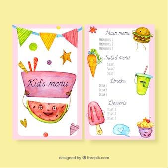 Modèle de menu de restaurant charmant