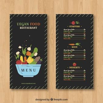 Modèle de menu de restaurant dans le style plat
