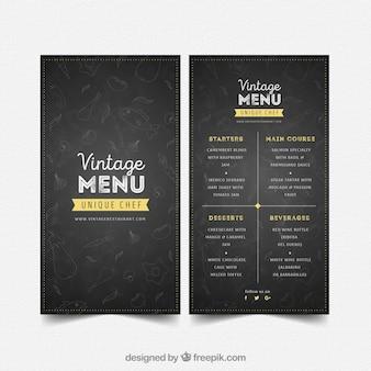 Modèle de menu de restaurant dans le style vintage