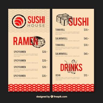 Modèle de menu de restaurant élégant