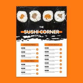 Modèle De Menu De Restaurant Japonais Vecteur gratuit
