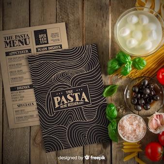 Modèle de menu de restaurant avec photo