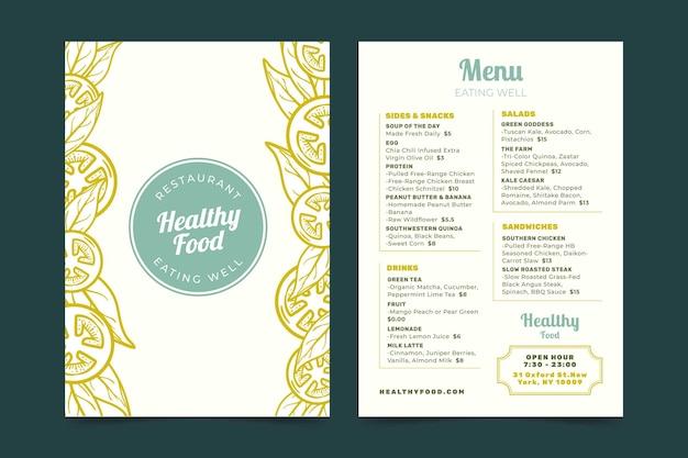 Modèle de menu de restaurant rétro