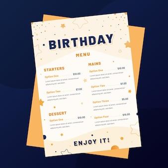 Modèle de menu de restaurant vertical