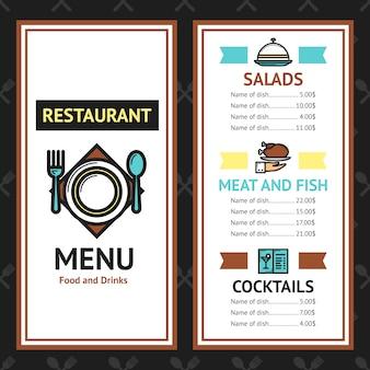 Modèle de menu de restaurant