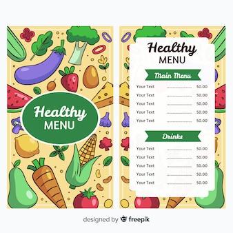 Modèle de menu santé