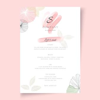 Modèle de menu vertical de femme d & # 39; affaires