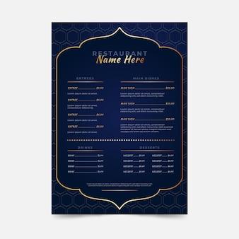 Modèle de menu vertical iftar