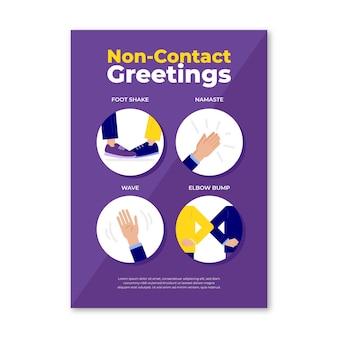 Modèle de message d'accueil sans contact