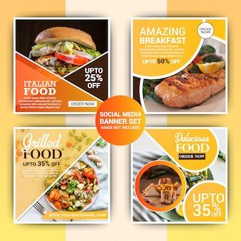 Modèle de message instagram alimentaire