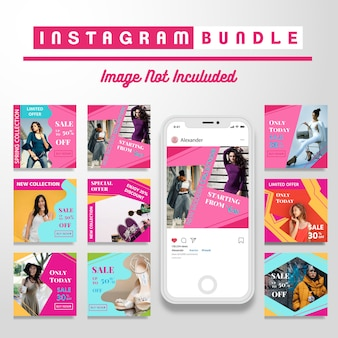 Modèle de message de mode rétro instagram