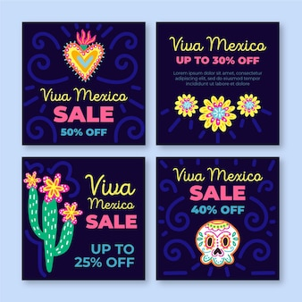 Modèle de messages instagram de vente de viva mexico