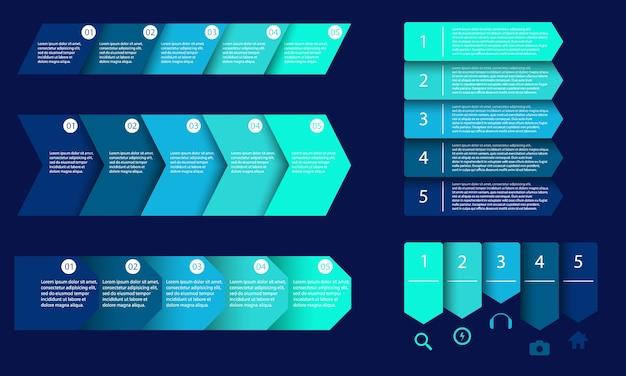 Modèle de métier vecteur pour les étapes de la présentation
