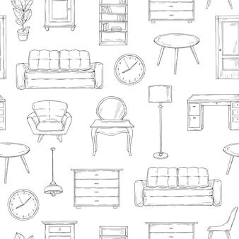Modèle de meubles de croquis