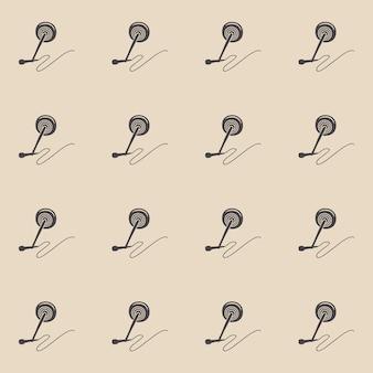 Modèle de microphone audio, illustration musicale. couverture créative et luxueuse