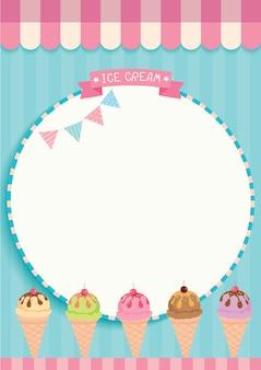 Modèle mignon de crème glacée