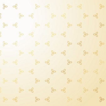 Modèle mignon décoration petites fleurs d'or