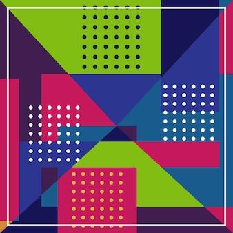 Modèle minimal moderne géométrique abstrait coloré