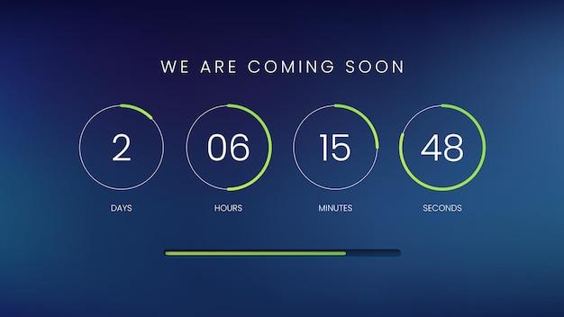 Modèle de minuterie de compteur d'horloge de compte à rebours pour site web
