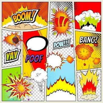 Modèle de mise en page de bande dessinée abstraite