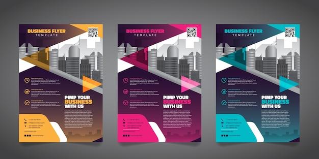 Modèle de mise en page de business flyer design