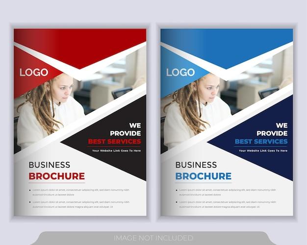 Modèle de mise en page de flyer. rapport annuel, modèle de présentation de couverture de brochure