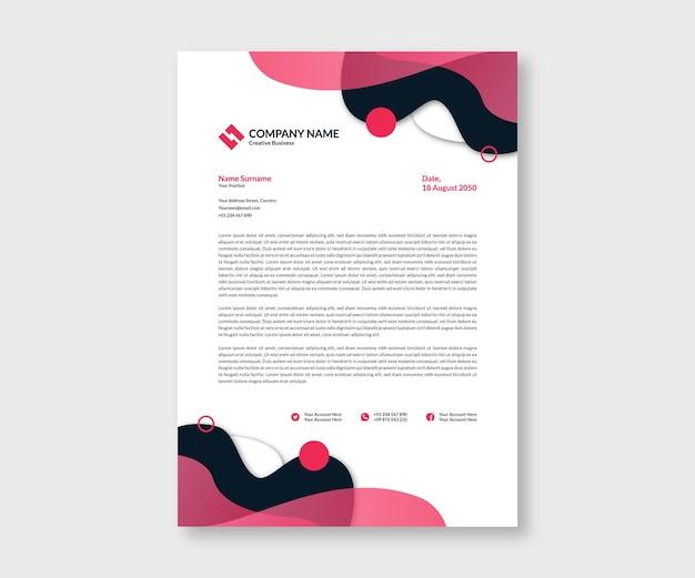 Modèle de mise en page de papier à en-tête d'entreprise créative