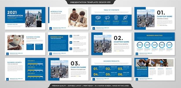 Modèle de mise en page de présentation style minimaliste