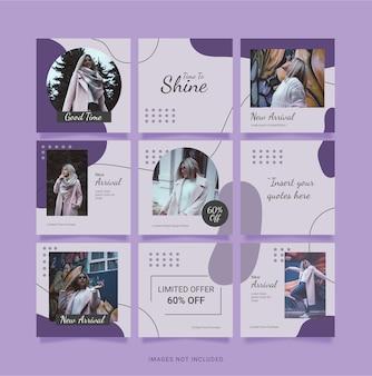Modèle mode femmes instagram puzzle post
