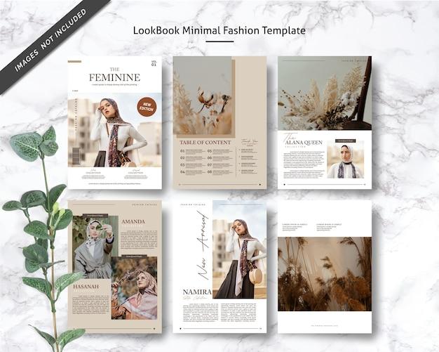 Modèle de mode minimal lookbook