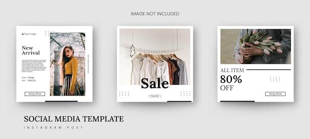 Modèle de mode minimaliste de bannière de publication instagram