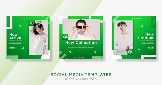 Modèle de mode pour la publication instagram, taille carrée