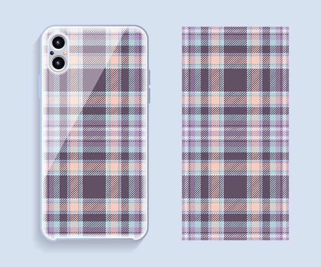 Modèle de modèle de conception de couverture de smartphone pour la partie arrière de téléphone portable.