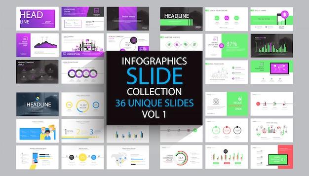 Modèle de modèle de diapositive infographie