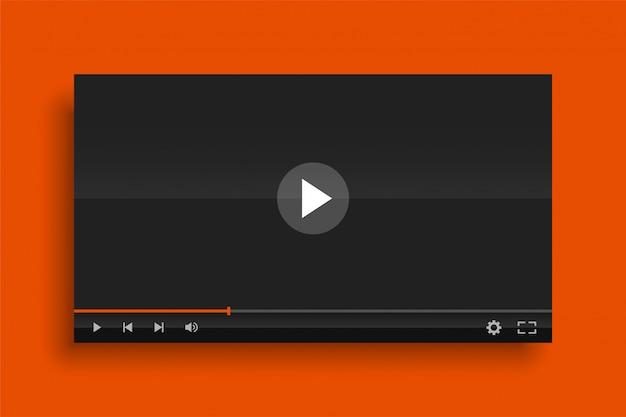 Modèle de modèle de lecteur vidéo moderne brillant