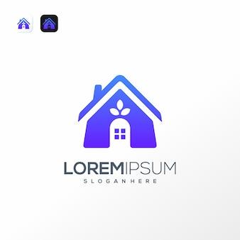 Modèle de modèle de logo maison