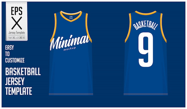 Modèle de modèle de maillot de basket-ball minimal